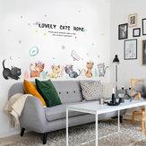 Miico SK7184 Gato Pintado À Mão Adesivo de Parede Quarto de Crianças Jardim de Infância Adesivos Decorativos Adesivo DIY
