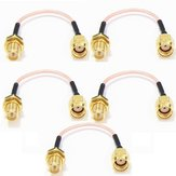 5pcs 120mm Low Loss Antenna Extension Cord Wire Fixed Base RP-SMA For RC Drone