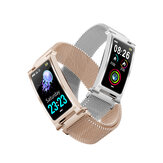 Bakeey F8 Milanese Strap Metal Boday Heart Rate Physiological Cycle Monitor Reject Call Fashion Smart Watch Band