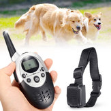 1100Yard Electric Dog Shock Trainingshalsband Wasserdichtes wiederaufladbares LCD Display