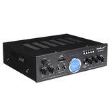 Питание 220 В Усилитель Bluetooth Питание аудио Усилитель USB SD 2 * Микрофонный вход