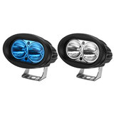 12V Motorcycle Oval Spotlight LED Work Light Waterproof IP67 Universal