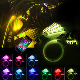 LED Car Interior Floor Lights Strip RGB 6M EL Optical Fiber Decoration Strip Light Lamp bluetooth App Control