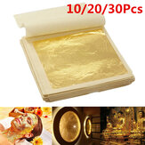 10Pcs Imitation Gold Leaf Foil Paper