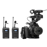 Boya BY-WM8 Pro K2 Wireless Mic Microphone System Audio Video Recorder Receiver for DSLR SLR Camera Smartphone