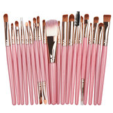 20Pcs Pink Color Beauty Eye Shadow Foundation Eyebrow Lip Br