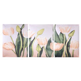 Wall Unframed Triptych Flower Tulip Blossom Canvas Prints Picture Paintings