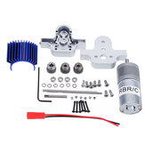 Metal Transfer Case Box+370 Motor Set for WPL B16 B24 B36 C24 JJRC Q65 1/16 Rc Car Parts