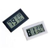 Bakeey Gauge Monitor de Medidor de Temperatura Mini Preto Termômetro Umidade LCD Higrômetro Para Casa Inteligente