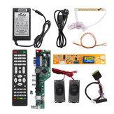 T.V53.03 Universal LCD LED Placa controladora de TV + 7 Botão de chave + 1ch 6bit 30Pins LVDS Cabo + 1 inversor de lâmpada + alto-falante + adaptador de alimentação da UE