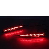 2 Adet Araba LED Arka Sis Lambaları Tampon Işıkları Hyundai Solaris Accent 2017-2019 Için Reflektör