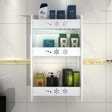 1 pièce sans poinçon cuisine salle de bain rack de rangement mural étagère polyvalente 2/3 couches S / M / L taille