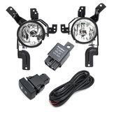 Противотуманные фары переднего бампера автомобиля Лампы с парой жгута проводов лампы для Honda CR-V CRV 2007-2009