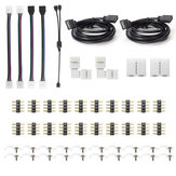 LED RGB 5050 Connector Kits 10MM 4Pin Includes Most Solderless Connectors Provides Most Parts for DIY Strip Light