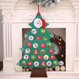 Voelde aftellen naar Kerstmis adventskalender Xmas Tree Gift Wall Hanging Decorations