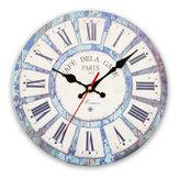 Винтажная деревянная стена Часы современный Дизайн античный стиль для домашней живущей комнаты