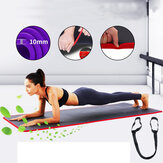 KALOAD 10mm Thick Yoga Mat Comfortable Non-slip Exercise Training Pad Gymnastics Fitness Foam Mats