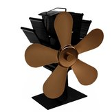 8 Blades Heaters Stove Fan Heat Powered Wood Stove Fan Silent Eco-Friendly Fireplace Fan for Wood Log Burner