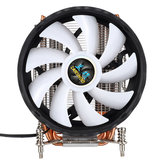 CPU Cooling Fan 12nm 6 Cooper Pipes 12 RGB Color Changing Air Cooler Fan for Intel 2011