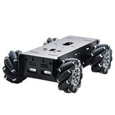 D-43 DIY Metal Inteligente RC Robot Car Chassis Base Com 97mm Omni Wheels DC 12V Motor