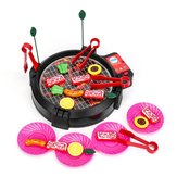 Kids BBQ Grill Pretend Play Toys Kitchen Barbecue Food Cooking Set Children Gift