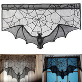 Halloween vleermuis kant rekwisieten tafellamp gordijn open haard doek Home Decorations