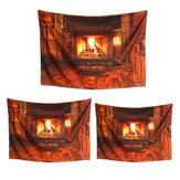 Polyester Wall Hanging Tapestry Art Home Decor Fireplace Pattern Blankets For Home Bedroom Porch Hangings