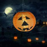 Zasilana energią słoneczną dyniowa lampka nocna LED Wisząca lampa Halloween Decor