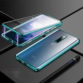 Bakeey 360º gebogen scherm Voor + achter Dubbelzijdig Full Body 9H Gehard glas Metalen magnetische adsorptie Flip beschermhoes voor OnePlus 7T PRO