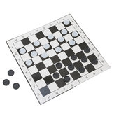Internationale Checkers Portable Folding Plastic Schaakbord Maat 33 * 33cm + 24st Schaken