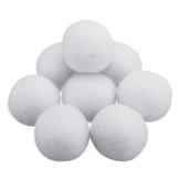 8 Teile / satz 2/3/4/5/7 cm Natürlichen Stoff Wolle Trockner Ball Wäscheweichspüler Faltenfreie Trockner Ball