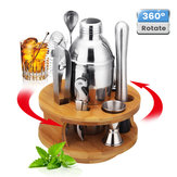 9 Pcs Coquetel De Aço Inoxidável Set Cocktail Edelstahl Bar Set Mixer Silber