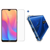 Bakeey HD Clear Anti-explosion Tempered Glass Screen Protector + Air Bag Transparent TPU Protective Case For Xiaomi Redmi 8