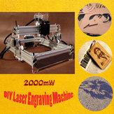 Mini 2000mw DIY Laser macchina per incidere Laser incisore Laser taglierina