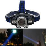XANES® GD-11 2700LM 5XT6 Faro blanco azul cámping Ciclismo Caza Linterna de emergencia Linterna con zoom 18650 USB recargable