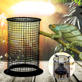 Reptile Anti-Scalding Lamp Cover for Arboreal Lizard Snake - Heat Mesh Cage Protector Guard Lamp Light Bulb Enclosure