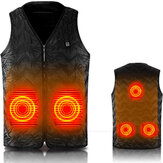 Intelligent USB Heating Sleeveless Vest Lightweight Warm Heated Pad Winter
