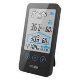 Bakeey Indoor Outdoor LCD Weather Station Temperature Humidity Display Clock For Smart Home
