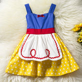 Baby Kid Girls Bowknot Dots Gedrukt Sleeveless Princess Dress Halloween Kostuums