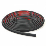 4M D Shape Car Truck Motor Door Rubber Seal Strip Weather Strip Seal