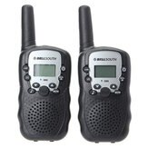 2pcs T-388 0.5W UHF Auto Multi-Channels Mini Radios Walkie Talkie Black