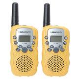 0.5w uhf automático de múltiples canales de walkie talkie radios Mini amarillo 388 t-