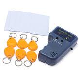 RFID 125KHz EM4100 Copiatrice Duplicatore di Carta d'Identità con 6 Tag Scrivibili e 6 Schede