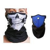 Sciarpa Motociclo Collo Ski Warm Maschera Blu e Skull Face Maschera