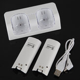 Charging Dock & 2 PCS Rechargeable Battery Pack Bundle For Wii Remote