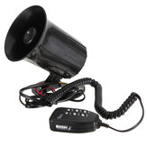 12V Loud Horn Auto Auto Van Truck Motorcycle Met 6 Sounds PA System