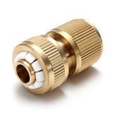 Car Garden Washing Hose Pipe Water Stop Connector Threaded Tap Brass