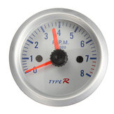 2 inch 52mm Blauw LED Tacho 12V Tachometer Pointer Meter