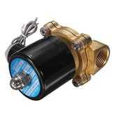 12V 1/2 Inch Electric Solenoid Water Air Valve Diesel Gas NPT Brass 4 Train Horn Solid Coil
