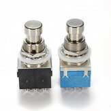 3PDT 9Pin Efeitos para guitarra Pedal Switches Stompbox True Bypass